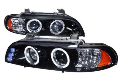 Sell Spec-D 2LHPE3997GTM - BMW 5-Series Dual Halo Projector Headlights 2 Pcs w LEDs motorcycle in Walnut, California, US, for US $212.25