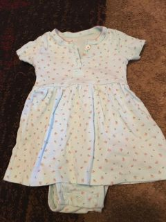 Carters 6m light blue dress w/ onesie - ppu (near old chemstrand & 29) or PU @ the Marcus Pointe Thrift Store (on W st)
