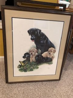 Labrador Puppies, signed print!