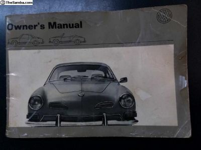 Owner's Manual - 1971 VW Karmann Ghia