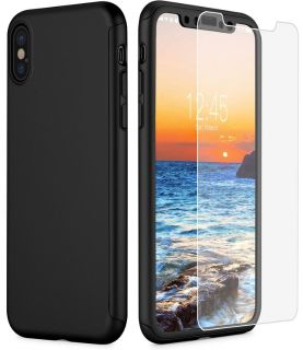 MYRIANN iPhone X Case,Dual Layer Textured Ultra Slim Shock Absorbent