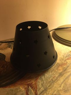 Wrought iron candle shade cover