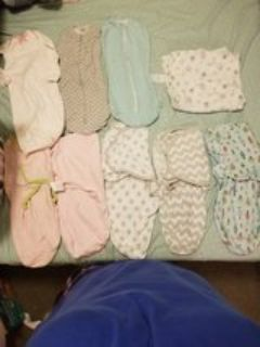 baby clothes/ swaddles ALOT