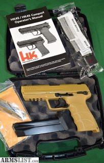 For Sale: Heckler & Koch HK45 RAL8000 PROTOTYPE Pistol H&K