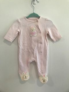Little Me by Carters 3 mo Footed Snap Body Suit