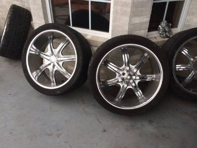 24 inch wheels tires Toyota Dodge chevy