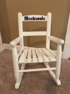 Child Size Rocking Chair, excellent condition, vinyl letters can be removed