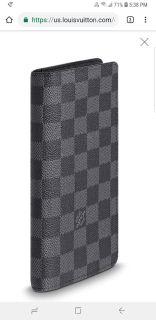 LOUIS VUITTON BLACK DAMIER GRAPHITE WALLET