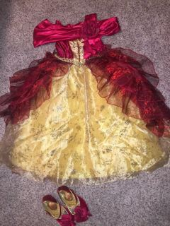 SIZE 4-5 Disney Dress Up Dresses including deluxe gowns (Assortment of 7 plus accessories)