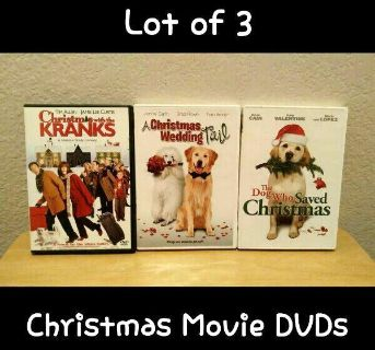 LOT OF 3 ASSORTED CHRISTMAS DVDs