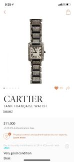 Cartier Tank Francaise 6.5cts diamond watch