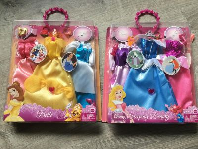 Disney Belle and Sleeping Beauty roll clothes