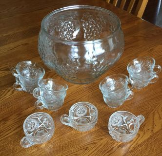 Punch bowl & cups