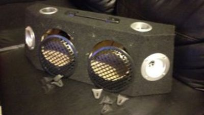 "6.5"" x 2 Speaker/Subwoofer Slim Truck Box"
