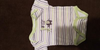 6 to 9 month onesie. Excellent condition no staining tearing or signs of wear.