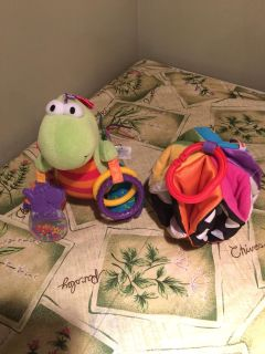 Lamaze and Fisher price stroller or car seat toys. Selling as a lot.
