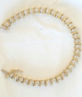 4.20 carat diamond tennis bracelet S link