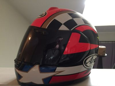 Rare limited edition ARAI Kevin Schwantz helmet
