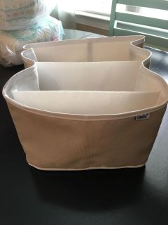 Soft organizer with pockets great for diapers and wipes!