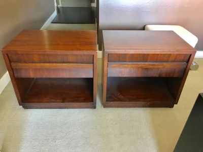 MID CENTURY MODERN Pair of Lane Nightstands