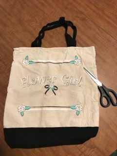 Canvas Flower Girl Bag