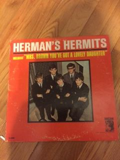 Autographed Herman's Hermits Mrs. Brown You've Got a Lovely Daughter Album