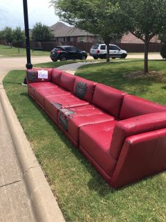 FREE - Red Sectional Couch