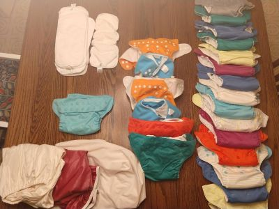 25 Cloth Diapers + Liners