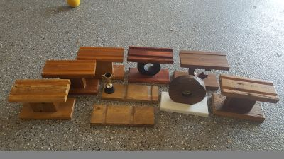 9 Wood Pinewood Derby Cub Scout Trophy Car Stands