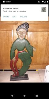 Wood statue of woman