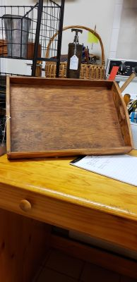 Old wood tray 13 by 18
