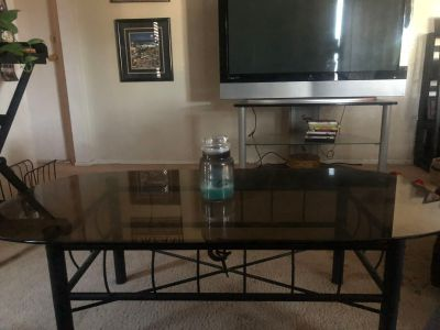 Coffee Table/ End Tables. Glass