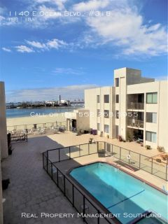 Gorgeous beachfront 1 Bed + 1 bath for rent in Downtown Long Beach!