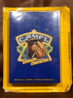 New unopened complete set 1989 R.J. Reynolds CAMEL smooth character playing cards