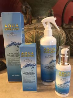 Aqua Exfoliator for body and face New Never Used Both for $10..00