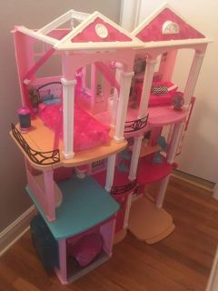 GIANT Barbie house, complete with furniture car and accessories , flash sale