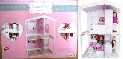 "New! Wood Dollhouse Kit - DesignAfriend - Fits 18"" dolls"