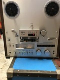 radio station reel to reel with case