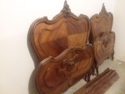 Pair of Real Antique Twin Beds.