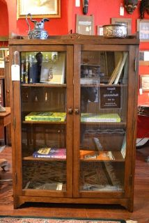 Mission Oak Bookcase Arts and Crafts