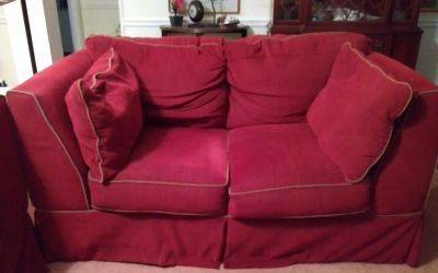 Sofa bed, love seat and ottoman