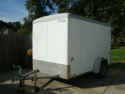 6x6x10 Enclosed trailer and carpentry tools