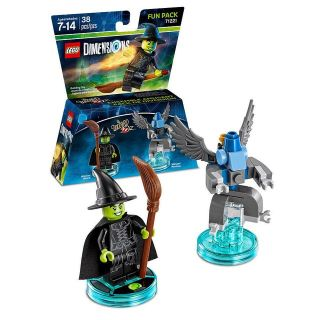 "LEGO DIMENSIONS FUN PACK #71221 ""WIZARD OF OZ WITCH"" & ""WINGED MONKEY"""