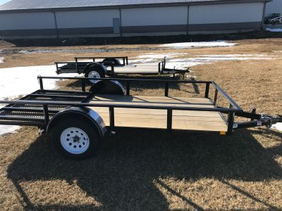 2017 H&H RS 5.5 X 12F RS Equipment Trailer Trailers Ottumwa, IA