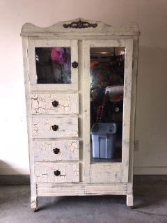 Antique Custom Painted Armoire BEAUTIFUL