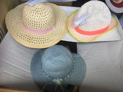 $2 each or all for $5. Beautiful accent hats for little girl