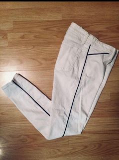 GAP ***EUC*** White skinny Jeans with navy piping 28 waist