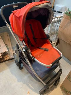 Stroller with toddler board