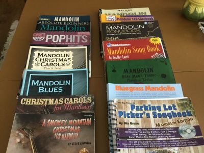 14 Assorted Mandolin Music Books