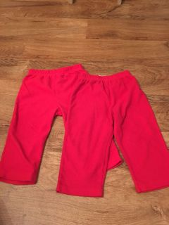 Two red polyester sleep pants. Both in good condition. Both are size 24m. Asking $2.50 for both
